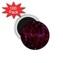 Brick2 Black Marble & Burgundy Marble (r) 1 75  Magnets (100 Pack)  by trendistuff