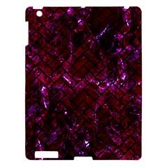 Brick2 Black Marble & Burgundy Marble (r) Apple Ipad 3/4 Hardshell Case by trendistuff
