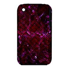 Brick2 Black Marble & Burgundy Marble (r) Iphone 3s/3gs by trendistuff