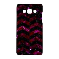 Chevron2 Black Marble & Burgundy Marble Samsung Galaxy A5 Hardshell Case  by trendistuff