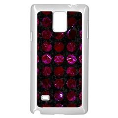 Circles1 Black Marble & Burgundy Marble Samsung Galaxy Note 4 Case (white) by trendistuff