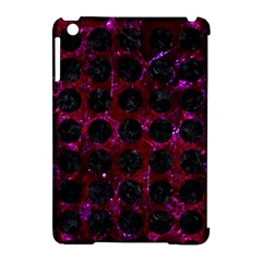 Circles1 Black Marble & Burgundy Marble (r) Apple Ipad Mini Hardshell Case (compatible With Smart Cover) by trendistuff