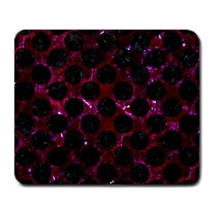 Circles2 Black Marble & Burgundy Marble (r) Large Mousepads by trendistuff