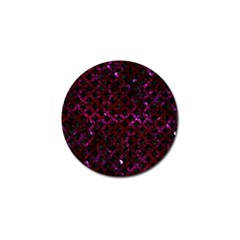 Circles3 Black Marble & Burgundy Marble Golf Ball Marker (10 Pack) by trendistuff