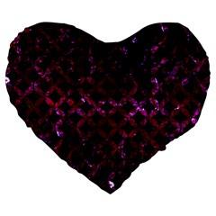 Circles3 Black Marble & Burgundy Marble Large 19  Premium Heart Shape Cushions by trendistuff