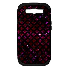 Circles3 Black Marble & Burgundy Marble (r) Samsung Galaxy S Iii Hardshell Case (pc+silicone) by trendistuff