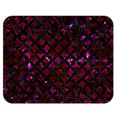 Circles3 Black Marble & Burgundy Marble (r) Double Sided Flano Blanket (medium)  by trendistuff