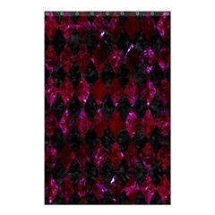 Diamond1 Black Marble & Burgundy Marble Shower Curtain 48  X 72  (small)  by trendistuff