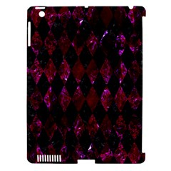 Diamond1 Black Marble & Burgundy Marble Apple Ipad 3/4 Hardshell Case (compatible With Smart Cover) by trendistuff