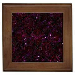 Damask1 Black Marble & Burgundy Marble Framed Tiles by trendistuff