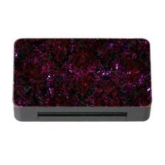 Damask1 Black Marble & Burgundy Marble Memory Card Reader With Cf by trendistuff