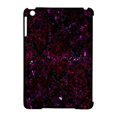 Damask1 Black Marble & Burgundy Marble Apple Ipad Mini Hardshell Case (compatible With Smart Cover) by trendistuff