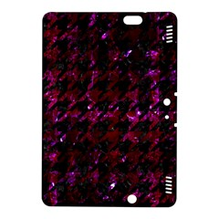 Houndstooth1 Black Marble & Burgundy Marble Kindle Fire Hdx 8 9  Hardshell Case by trendistuff
