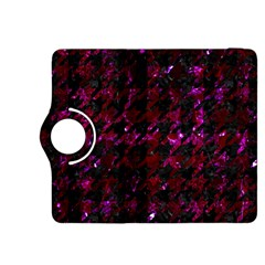 Houndstooth1 Black Marble & Burgundy Marble Kindle Fire Hdx 8 9  Flip 360 Case by trendistuff