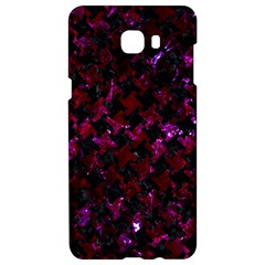 Houndstooth2 Black Marble & Burgundy Marble Samsung C9 Pro Hardshell Case  by trendistuff
