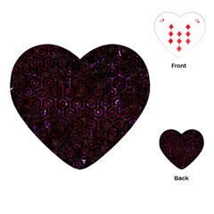 Hexagon1 Black Marble & Burgundy Marble Playing Cards (heart)  by trendistuff