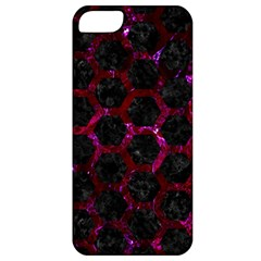 Hexagon2 Black Marble & Burgundy Marble Apple Iphone 5 Classic Hardshell Case by trendistuff