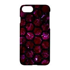 Hexagon2 Black Marble & Burgundy Marble (r) Apple Iphone 7 Hardshell Case by trendistuff