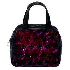 Royal1 Black Marble & Burgundy Marble Classic Handbags (one Side) by trendistuff