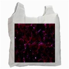 Royal1 Black Marble & Burgundy Marble Recycle Bag (one Side) by trendistuff