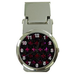 Royal1 Black Marble & Burgundy Marble (r) Money Clip Watches by trendistuff