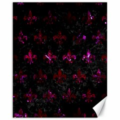 Royal1 Black Marble & Burgundy Marble (r) Canvas 16  X 20   by trendistuff