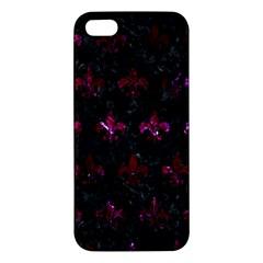 Royal1 Black Marble & Burgundy Marble (r) Apple Iphone 5 Premium Hardshell Case by trendistuff