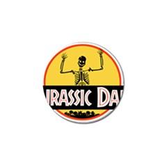 Jurassic Dad Dinosaur Skeleton Funny Birthday Gift Golf Ball Marker (10 Pack) by PodArtist