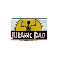 Jurassic Dad Dinosaur Skeleton Funny Birthday Gift Cosmetic Bag (small)  by PodArtist