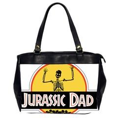 Jurassic Dad Dinosaur Skeleton Funny Birthday Gift Office Handbags (2 Sides)  by PodArtist