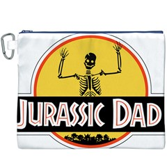 Jurassic Dad Dinosaur Skeleton Funny Birthday Gift Canvas Cosmetic Bag (xxxl) by PodArtist