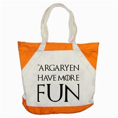 Targaryens Have More Fun   Blondes Have More Fun Black Accent Tote Bag by PodArtist