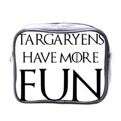 Targaryens Have More Fun   Blondes Have More Fun Black Mini Toiletries Bags by PodArtist