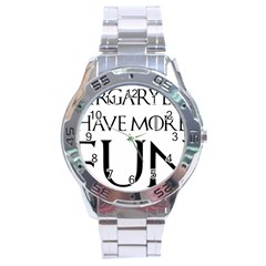 Targaryens Have More Fun   Blondes Have More Fun Black Stainless Steel Analogue Watch by PodArtist