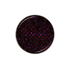 Scales1 Black Marble & Burgundy Marble Hat Clip Ball Marker by trendistuff