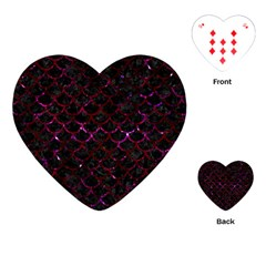 Scales1 Black Marble & Burgundy Marble Playing Cards (heart)  by trendistuff