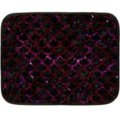 Scales1 Black Marble & Burgundy Marble Double Sided Fleece Blanket (mini)  by trendistuff