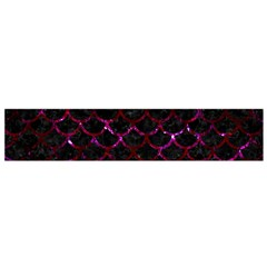 Scales1 Black Marble & Burgundy Marble Flano Scarf (small)