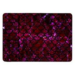 Scales1 Black Marble & Burgundy Marble (r)ack Marble & Burgundy Marble (r) Samsung Galaxy Tab 8 9  P7300 Flip Case by trendistuff
