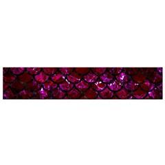 Scales1 Black Marble & Burgundy Marble (r)ack Marble & Burgundy Marble (r) Flano Scarf (small)