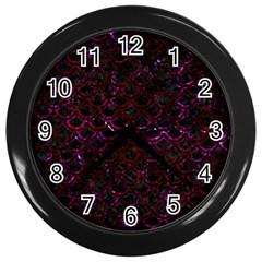 Scales2 Black Marble & Burgundy Marble Wall Clocks (black) by trendistuff