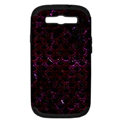 Scales2 Black Marble & Burgundy Marble Samsung Galaxy S Iii Hardshell Case (pc+silicone) by trendistuff