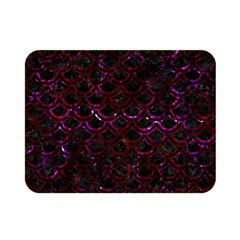 Scales2 Black Marble & Burgundy Marble Double Sided Flano Blanket (mini)  by trendistuff