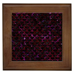 Scales3 Black Marble & Burgundy Marble Framed Tiles by trendistuff