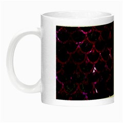 Scales3 Black Marble & Burgundy Marble Night Luminous Mugs by trendistuff