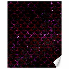 Scales3 Black Marble & Burgundy Marble Canvas 11  X 14   by trendistuff