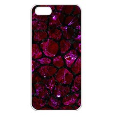 Skin1 Black Marble & Burgundy Marble Apple Iphone 5 Seamless Case (white) by trendistuff