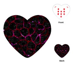 Skin1 Black Marble & Burgundy Marble (r)lack Marble & Burgundy Marble (r) Playing Cards (heart)  by trendistuff