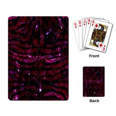 Skin2 Black Marble & Burgundy Marble (r) Playing Card by trendistuff