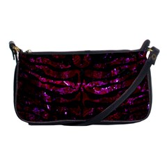 Skin2 Black Marble & Burgundy Marble (r) Shoulder Clutch Bags by trendistuff
